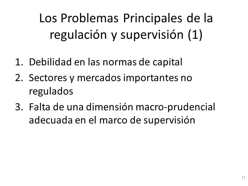 Los Problemas Principales de la regulación y supervisión (1)