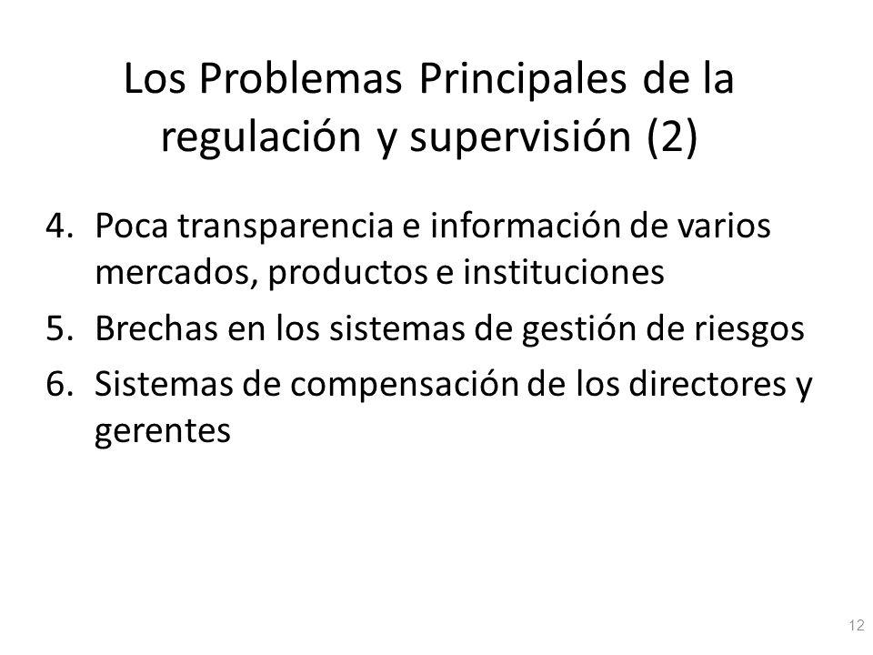 Los Problemas Principales de la regulación y supervisión (2)