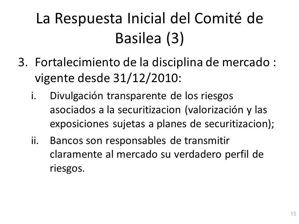 La Respuesta Inicial del Comité de Basilea (3)