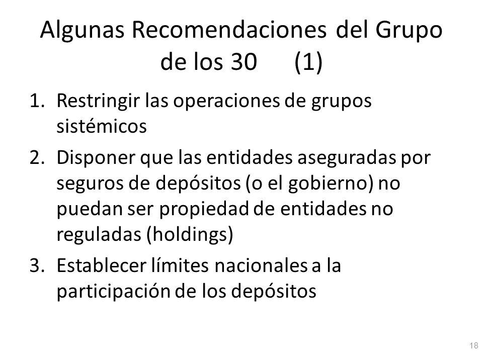 Algunas Recomendaciones del Grupo de los 30 (1)