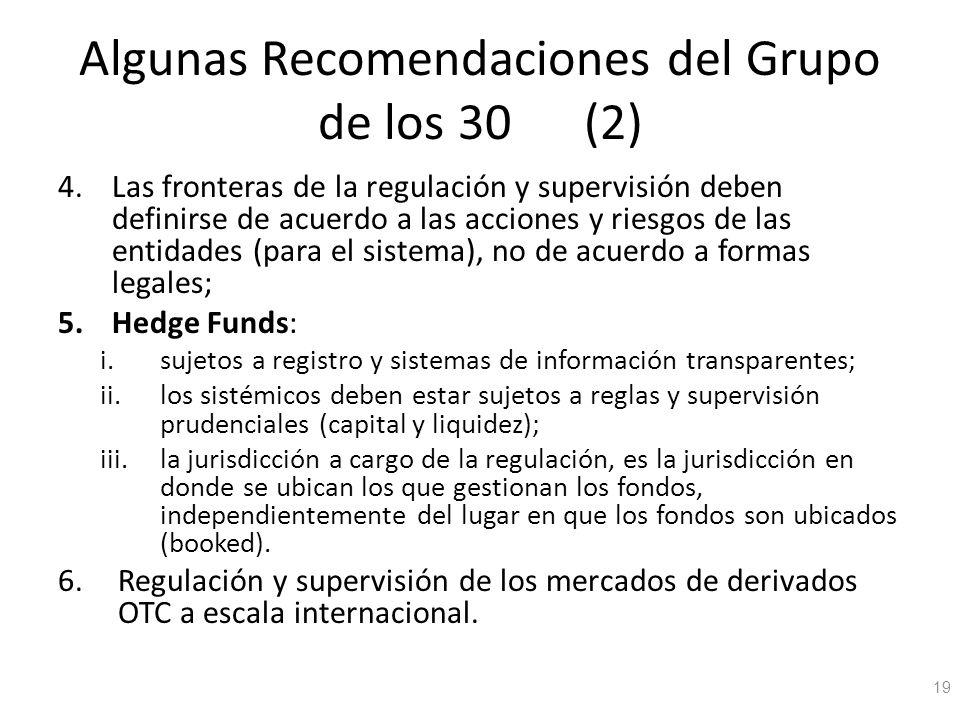 Algunas Recomendaciones del Grupo de los 30 (2)