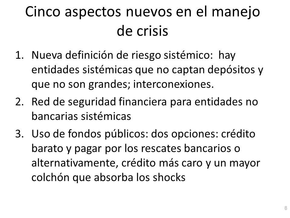 Cinco aspectos nuevos en el manejo de crisis