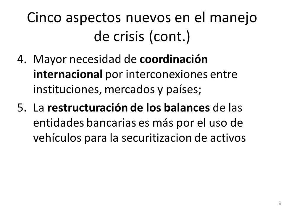 Cinco aspectos nuevos en el manejo de crisis (cont.)