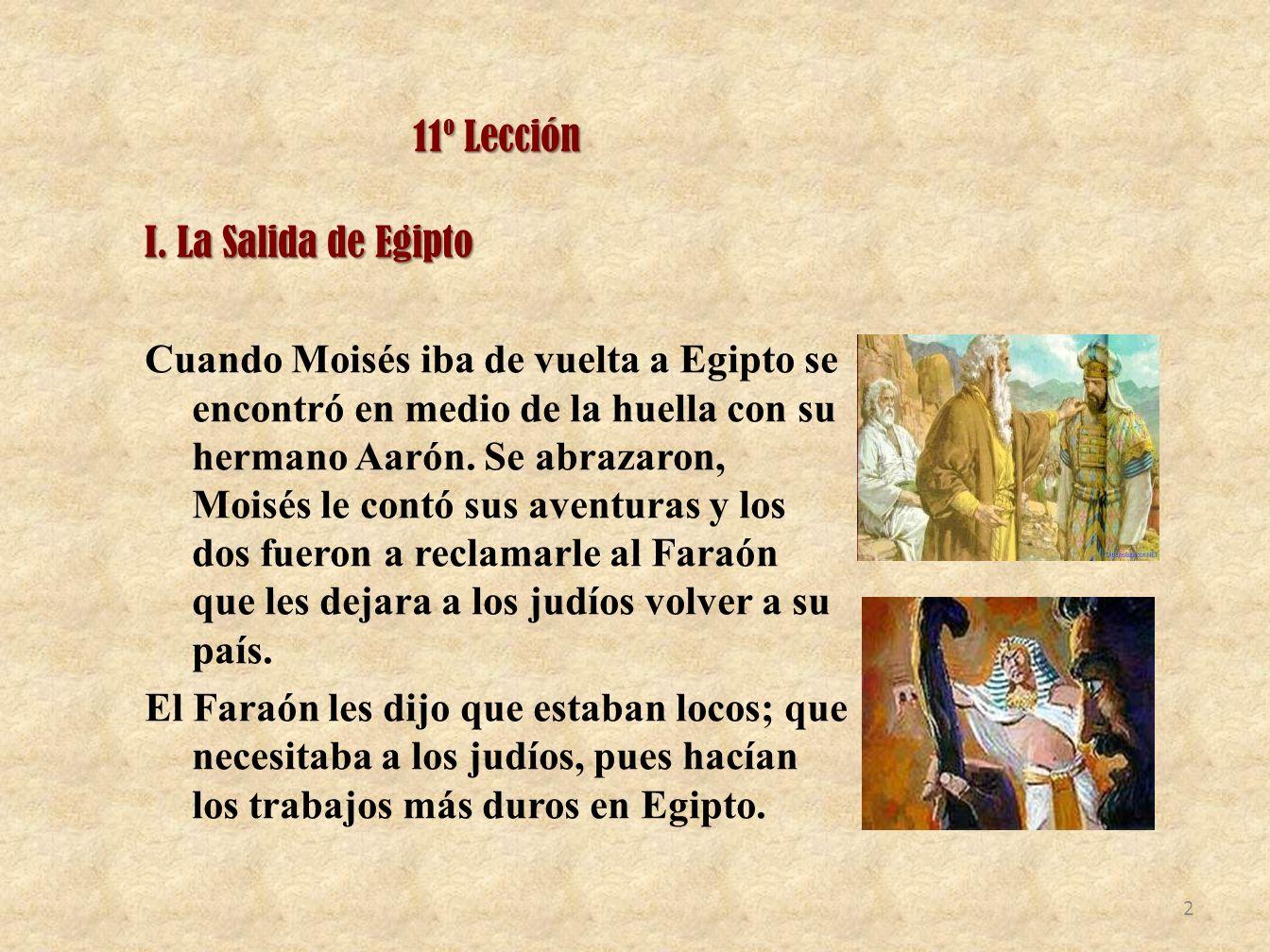 11º Lección I. La Salida de Egipto.