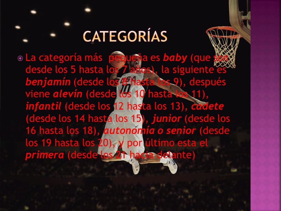 categorías