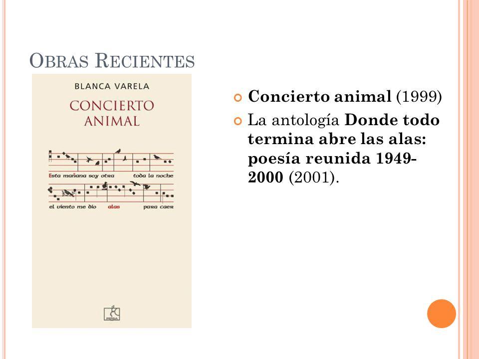 Obras Recientes Concierto animal (1999)
