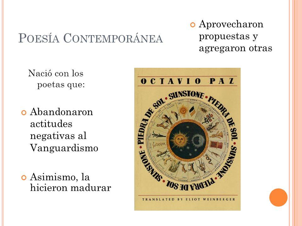 Poesía Contemporánea Aprovecharon propuestas y agregaron otras