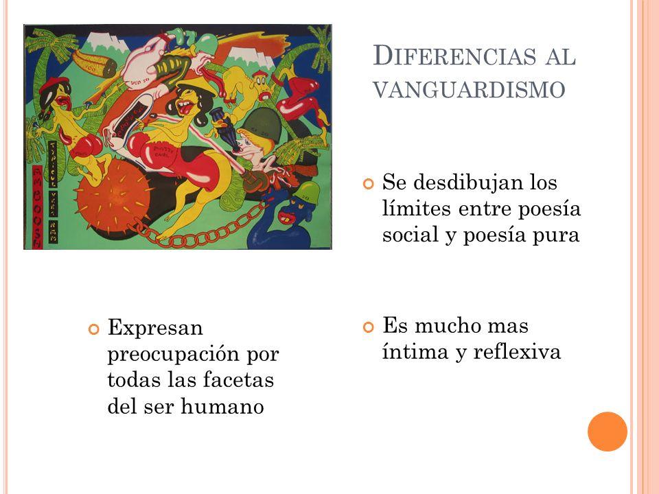 Diferencias al vanguardismo
