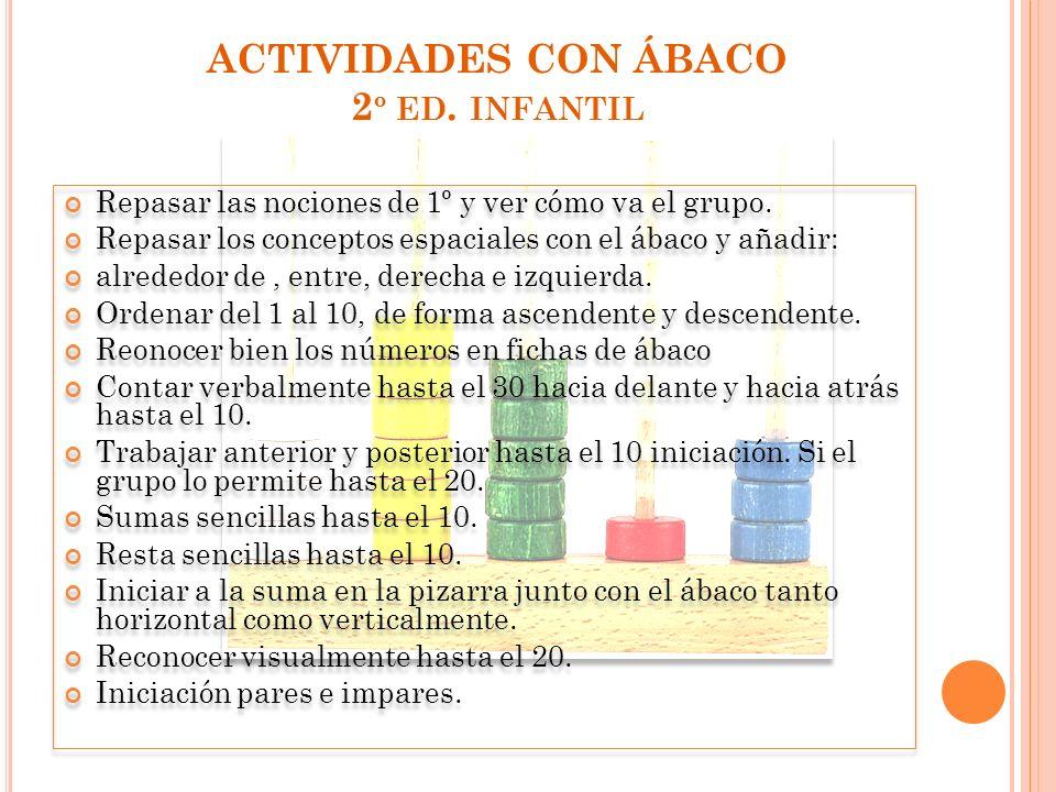 ACTIVIDADES CON ÁBACO 2º ed. infantil