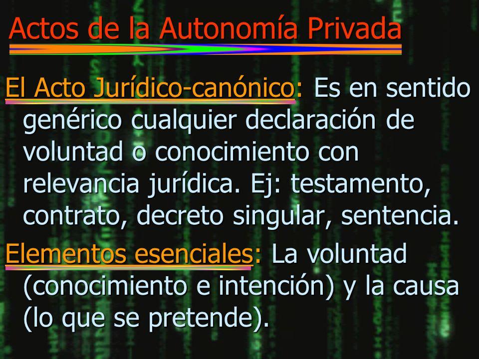 Actos de la Autonomía Privada