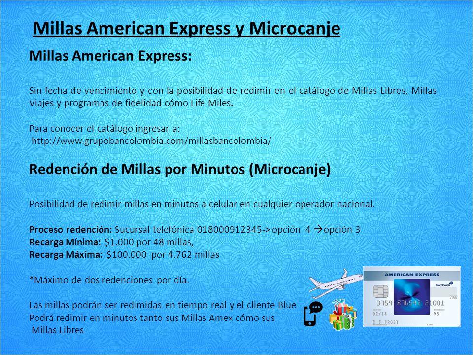 Millas American Express y Microcanje