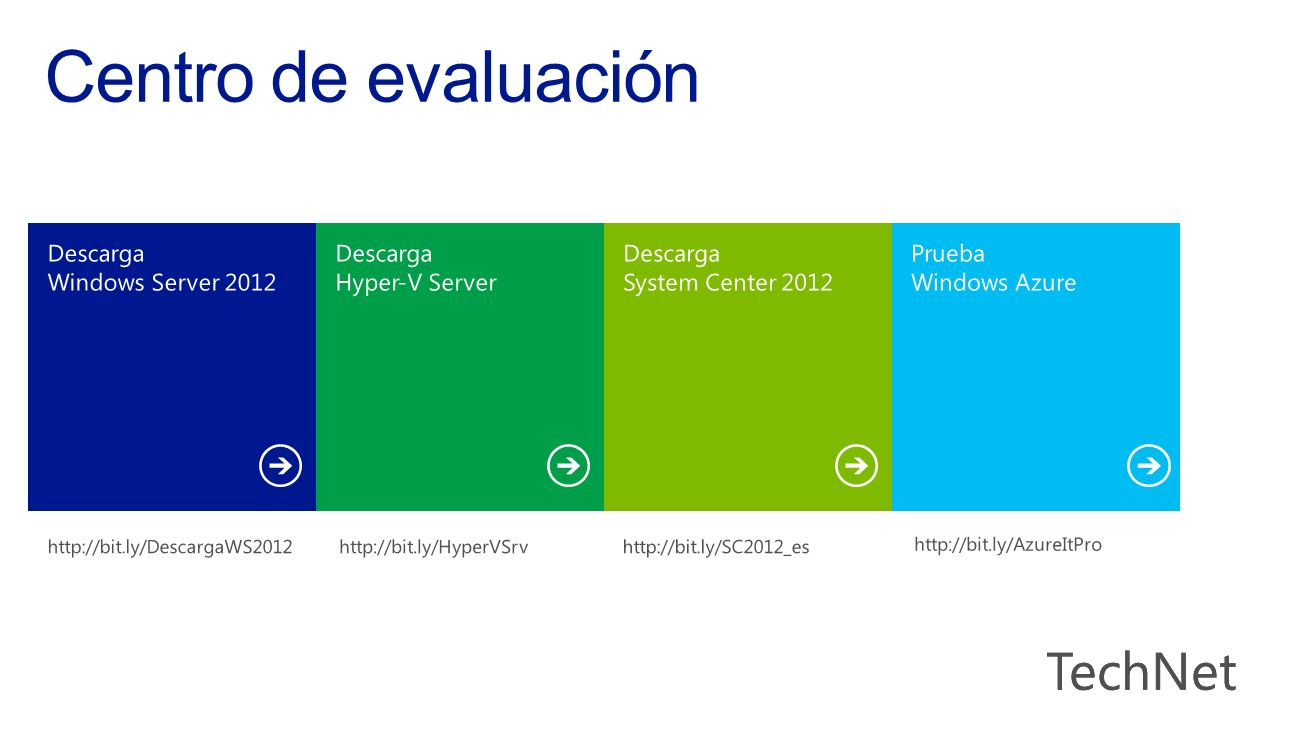 Centro de evaluación TechNet Descarga Windows Server 2012 Descarga