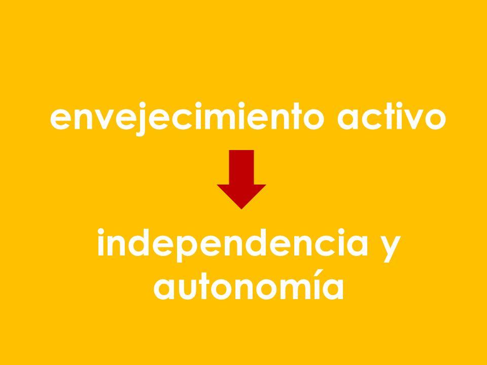 envejecimiento activo independencia y autonomía