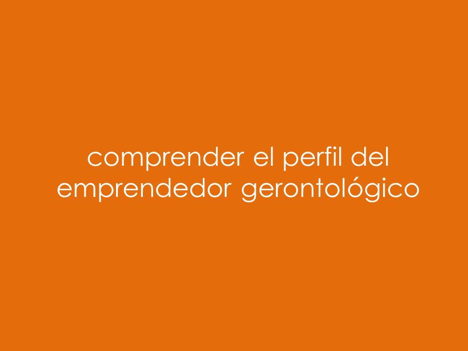 comprender el perfil del emprendedor gerontológico