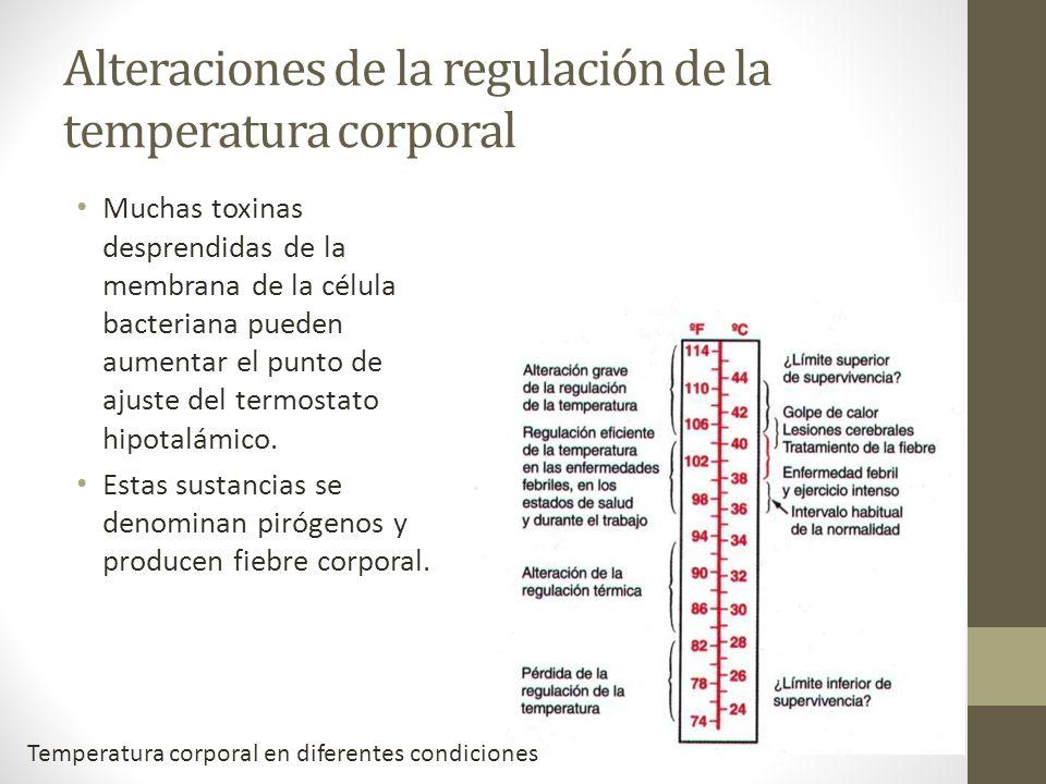 Alteraciones de la regulación de la temperatura corporal