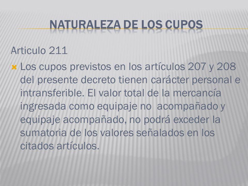NATURALEZA DE LOS CUPOS