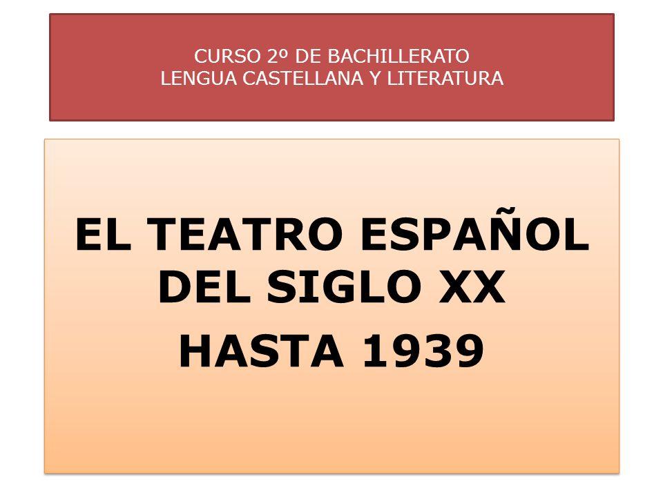 CURSO 2º DE BACHILLERATO LENGUA CASTELLANA Y LITERATURA