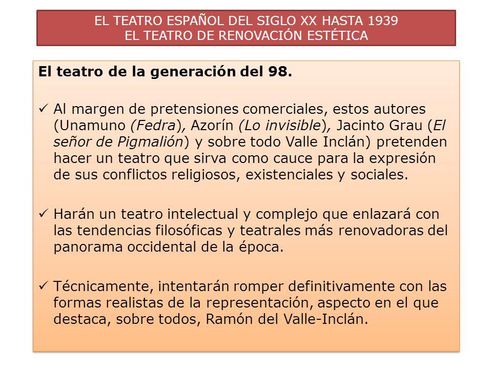 El teatro de la generación del 98.