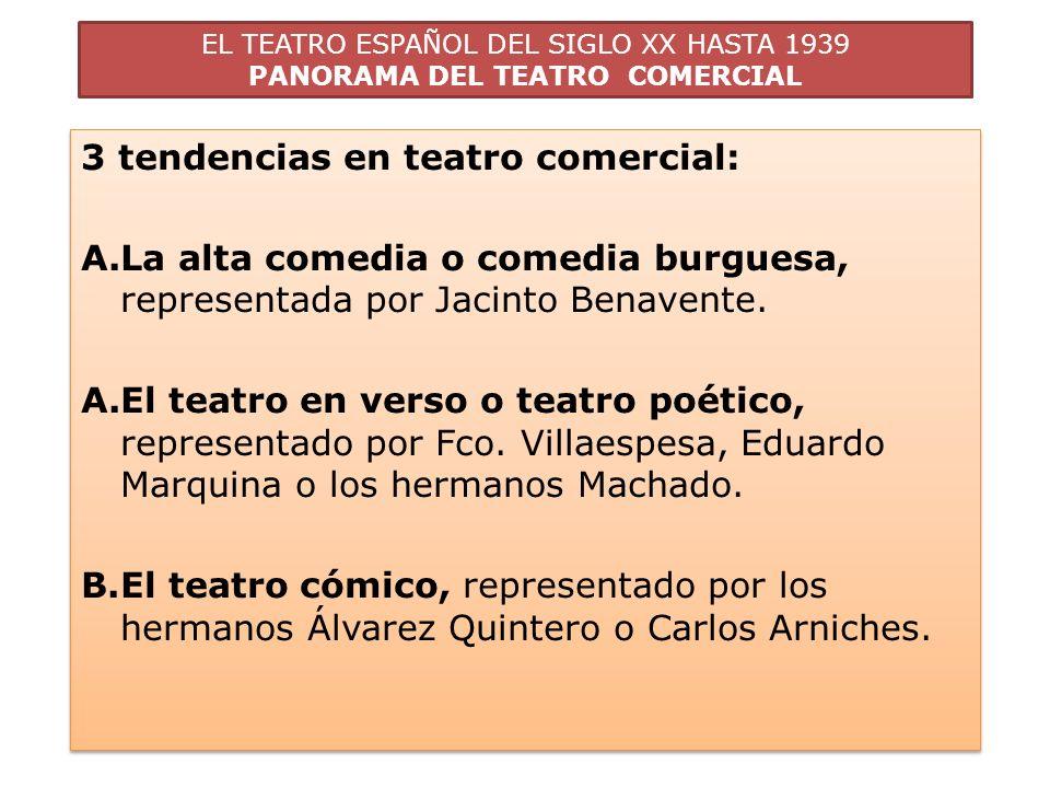 3 tendencias en teatro comercial: