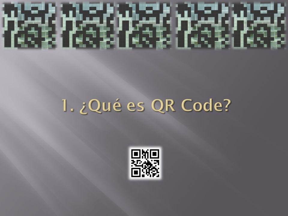 1. ¿Qué es QR Code