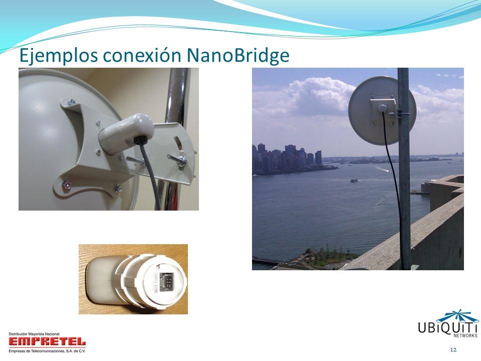 Ejemplos conexión NanoBridge