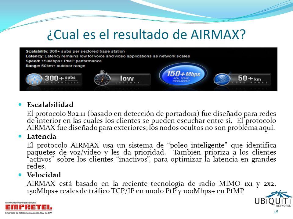 ¿Cual es el resultado de AIRMAX