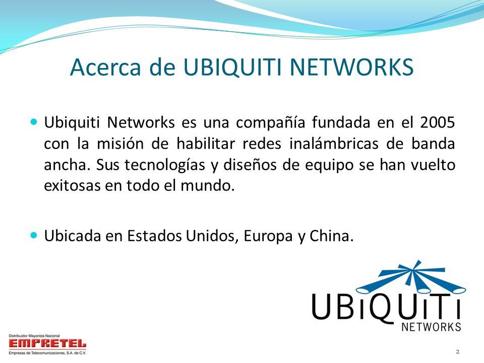 Acerca de UBIQUITI NETWORKS