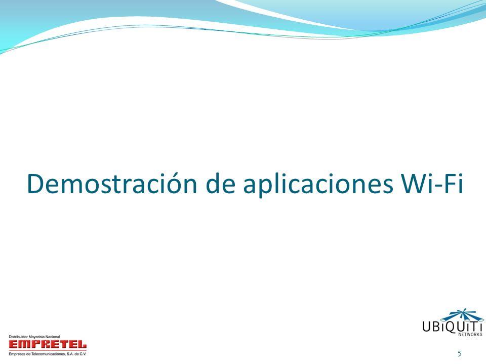 Demostración de aplicaciones Wi-Fi
