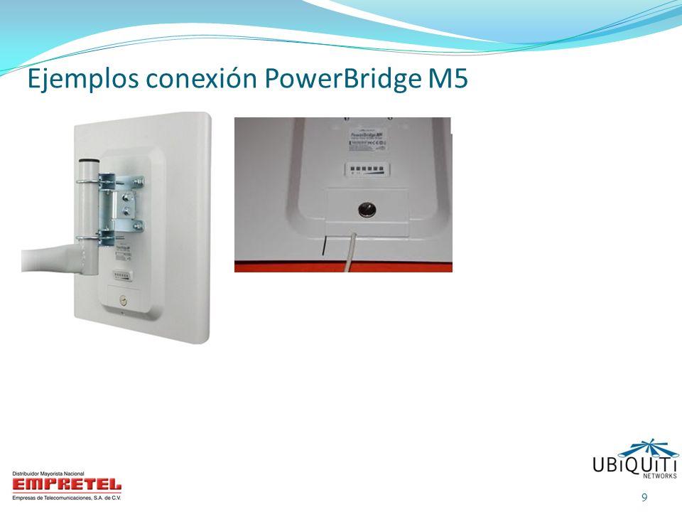 Ejemplos conexión PowerBridge M5