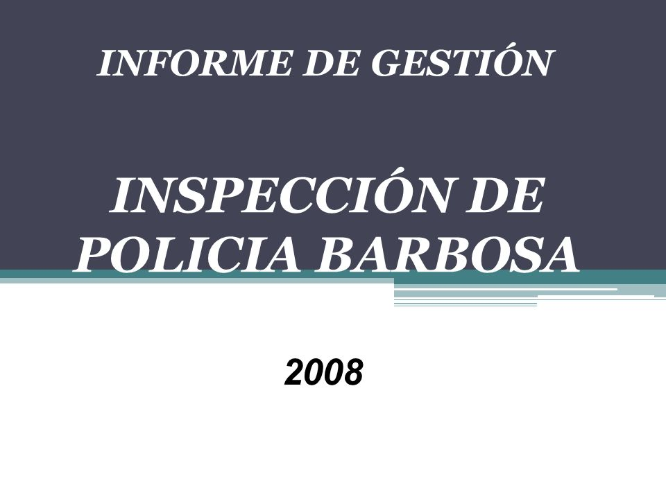 INSPECCIÓN DE POLICIA BARBOSA