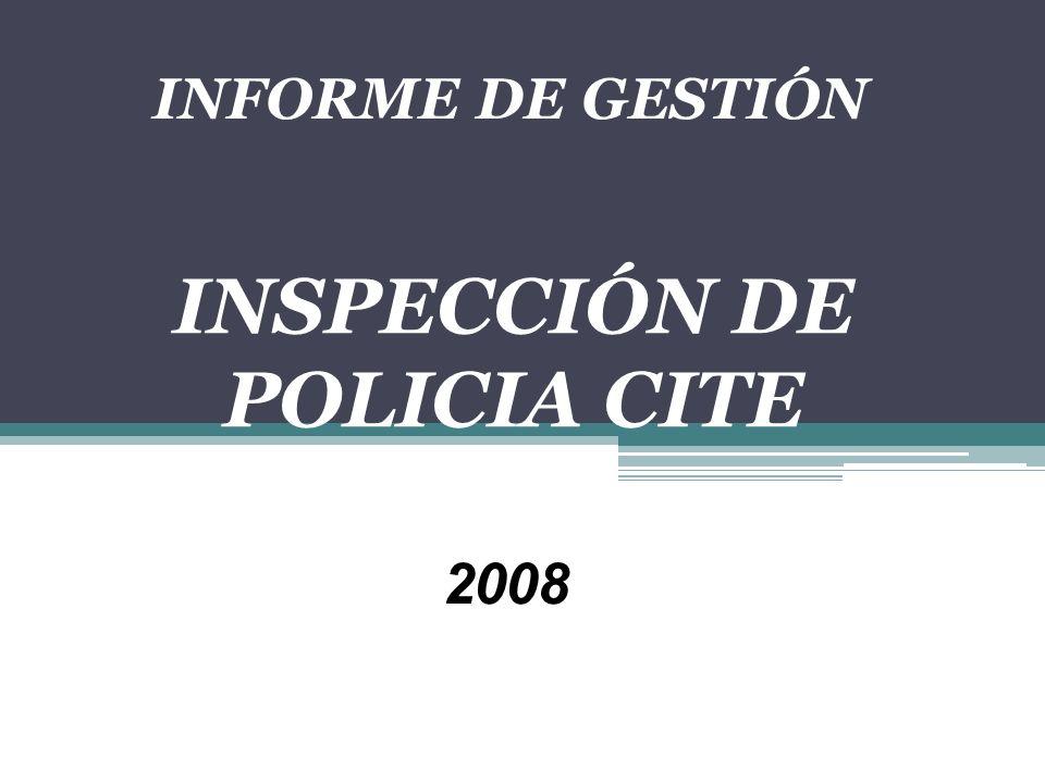 INSPECCIÓN DE POLICIA CITE