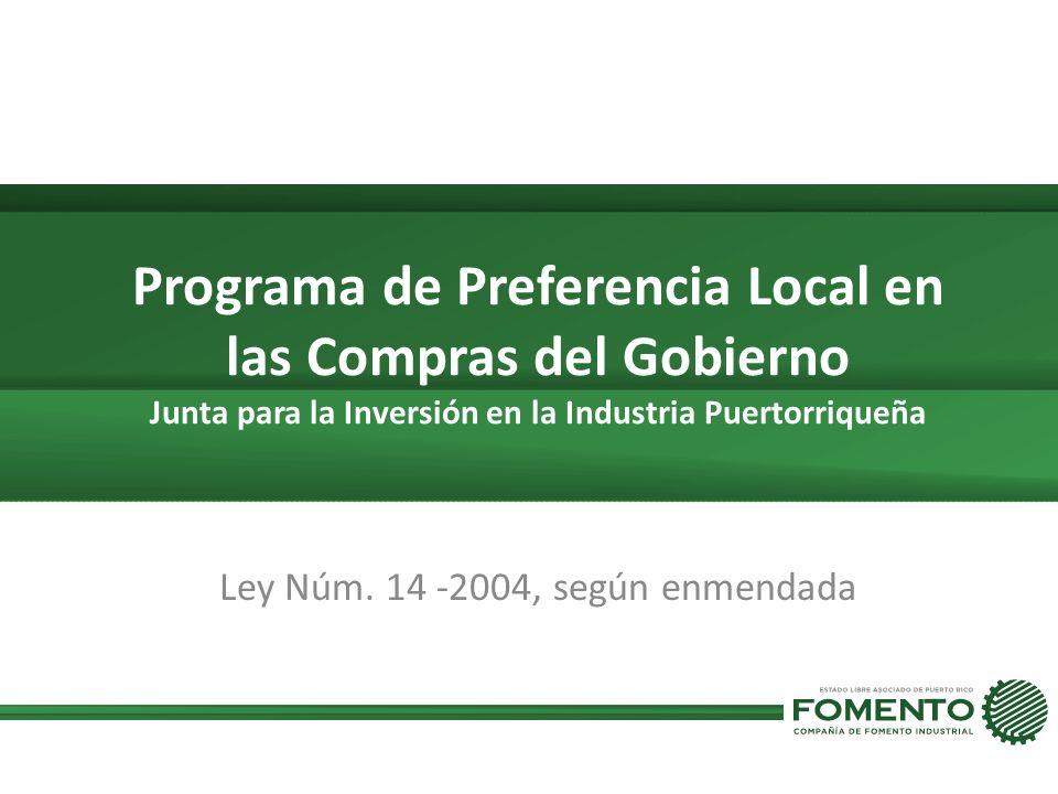 Ley Núm. 14 -2004, según enmendada
