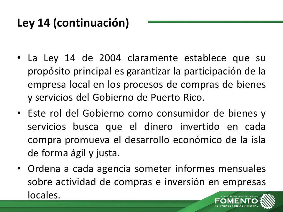 Ley 14 (continuación)