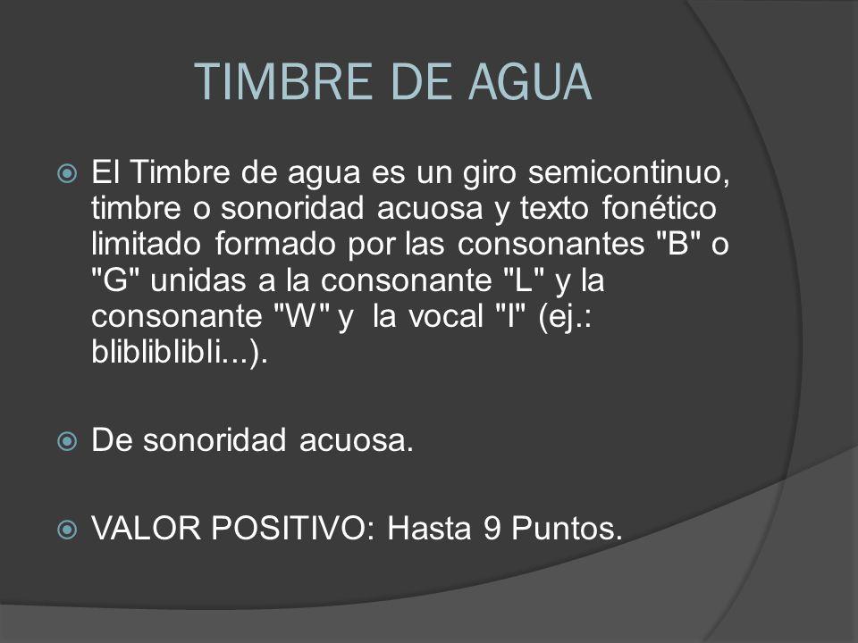 TIMBRE DE AGUA