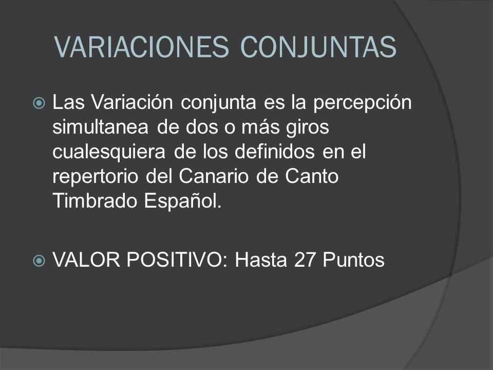 VARIACIONES CONJUNTAS