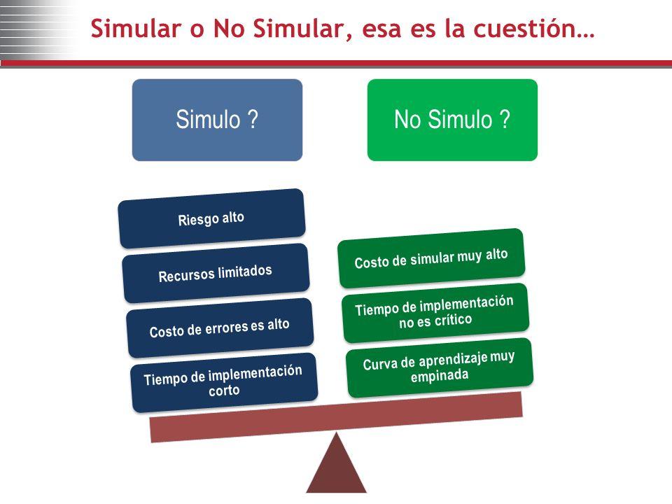 Simular o No Simular, esa es la cuestión…