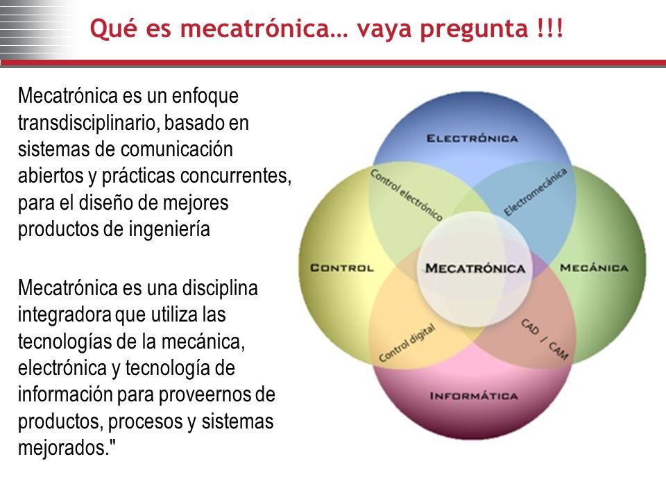 Qué es mecatrónica… vaya pregunta !!!
