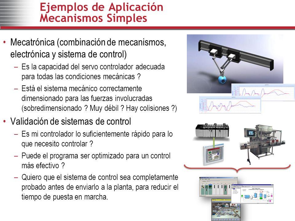 Ejemplos de Aplicación Mecanismos Simples