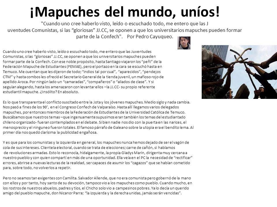¡Mapuches del mundo, uníos