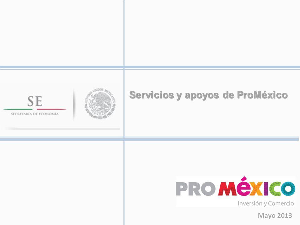 Servicios y apoyos de ProMéxico