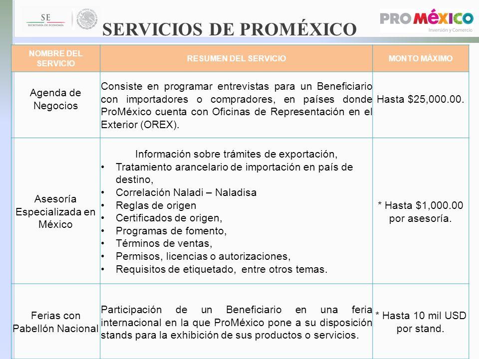 SERVICIOS DE PROMÉXICO
