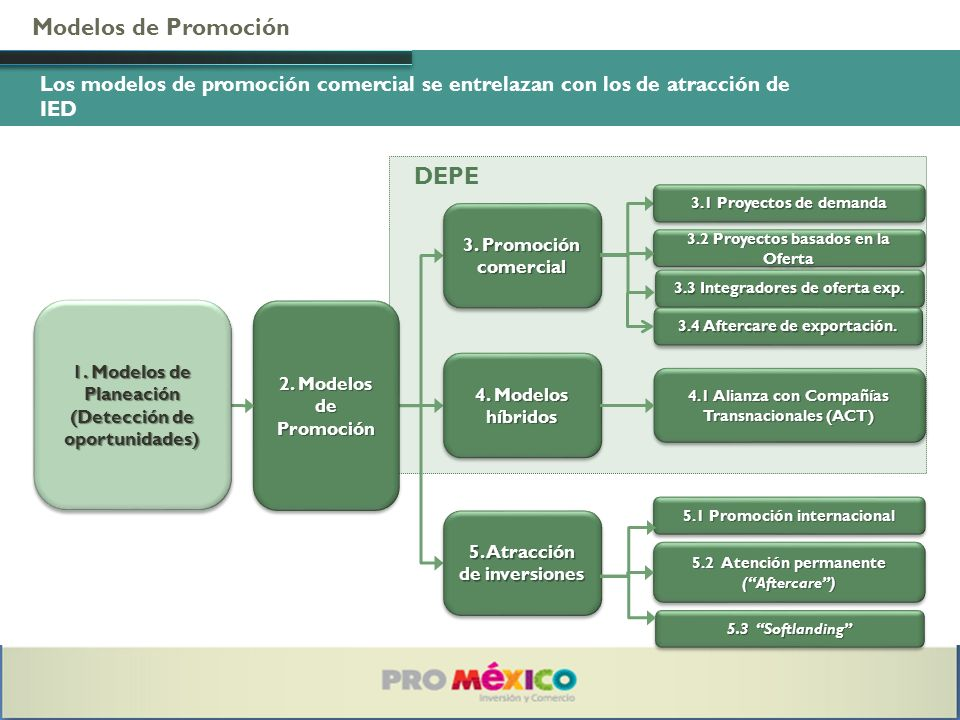 Modelos de Promoción DEPE