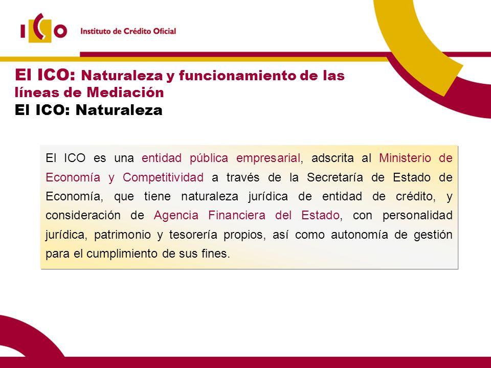 El ICO: Naturaleza y funcionamiento de las líneas de Mediación