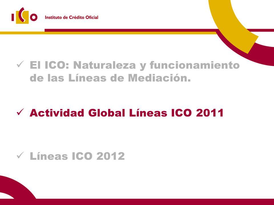 El ICO: Naturaleza y funcionamiento de las Líneas de Mediación.