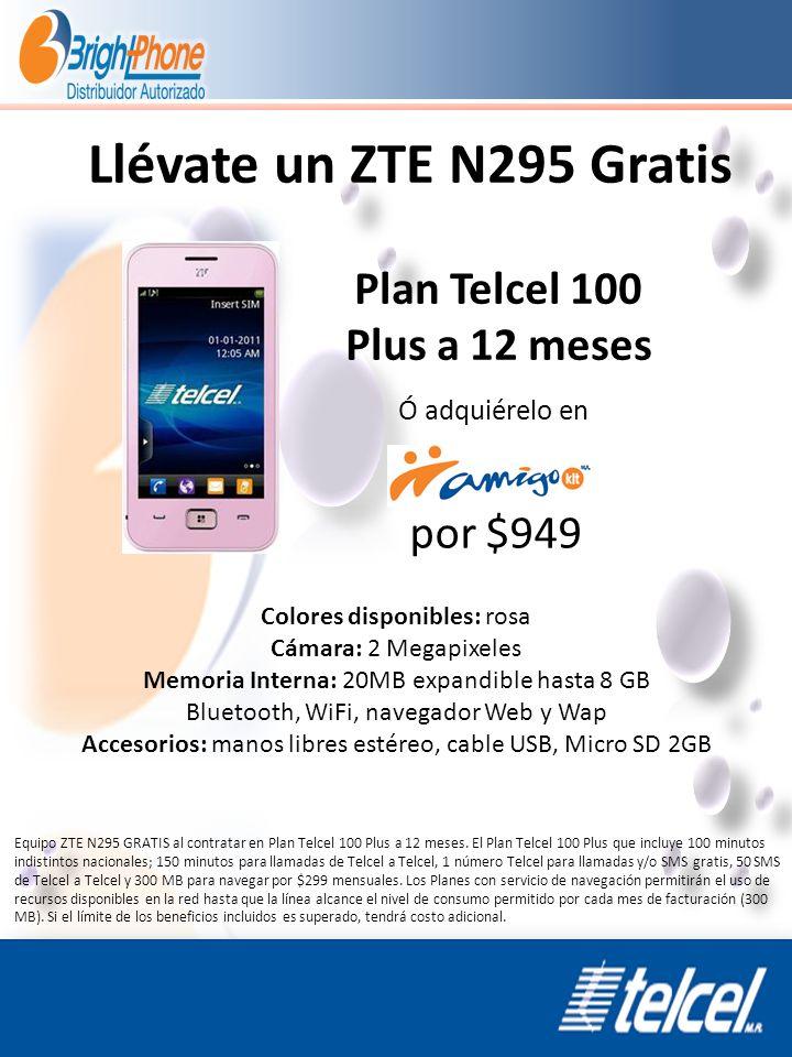 Plan Telcel 100 Plus a 12 meses