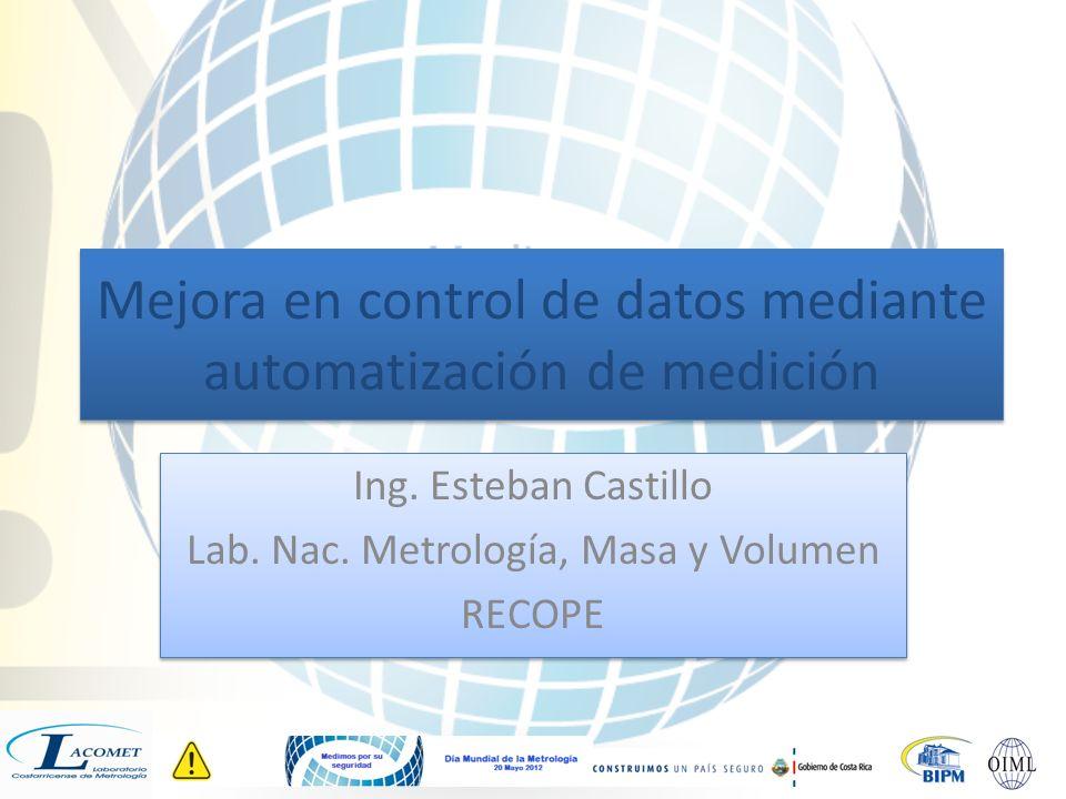 Mejora en control de datos mediante automatización de medición