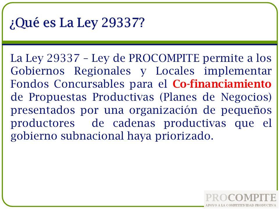 ¿Qué es La Ley 29337