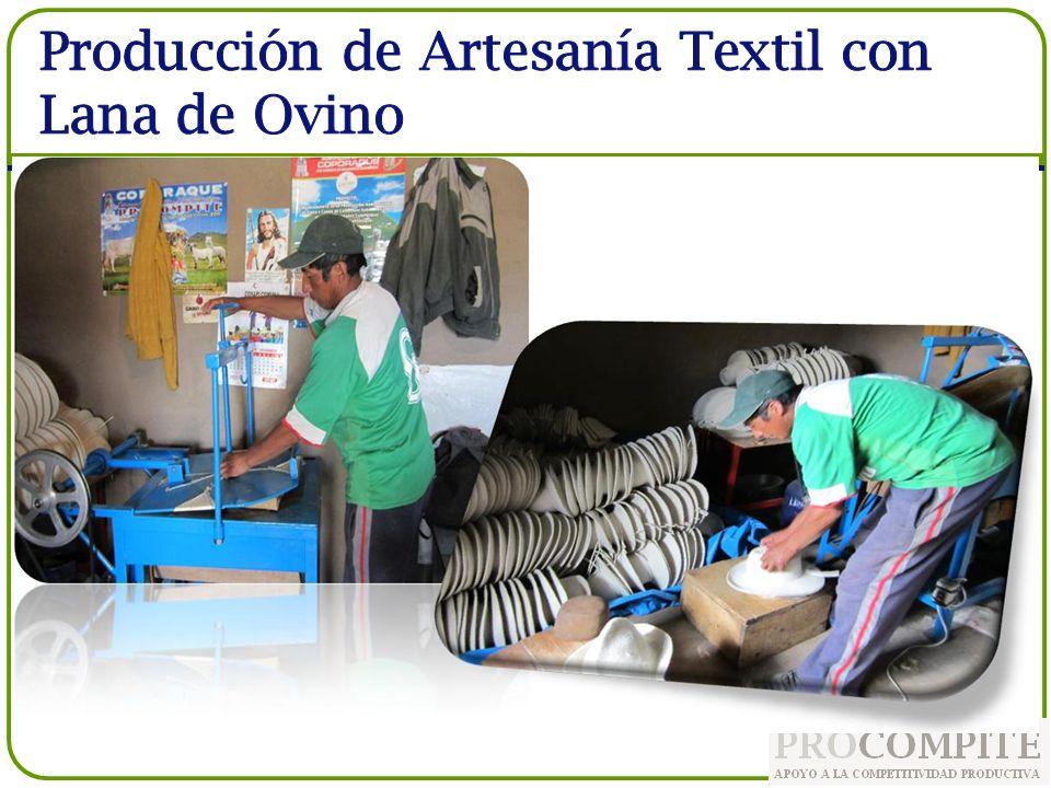 Producción de Artesanía Textil con Lana de Ovino