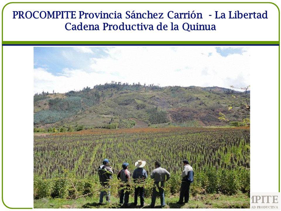 PROCOMPITE Provincia Sánchez Carrión - La Libertad Cadena Productiva de la Quinua