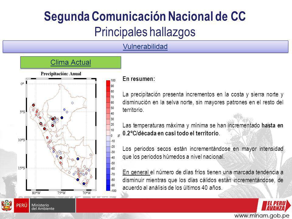 Segunda Comunicación Nacional de CC